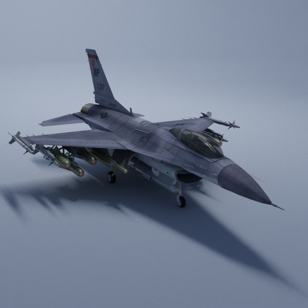 3d model f16c falcon usaf jet fighter - F16C Falcon USAF VRay... by ES3DStudios