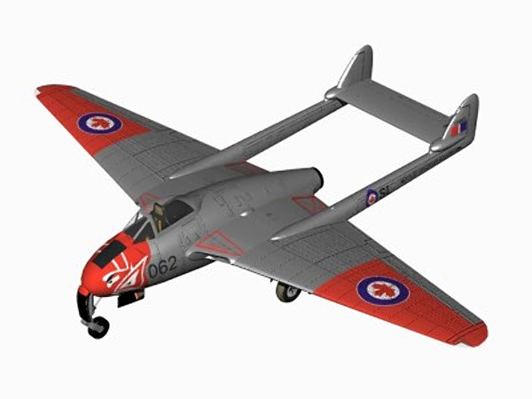 havilland vampire jet fighter 3d 3ds - De Havilland Vampire F3... by pbratt