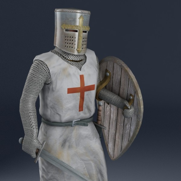 Knight Templar Rigged