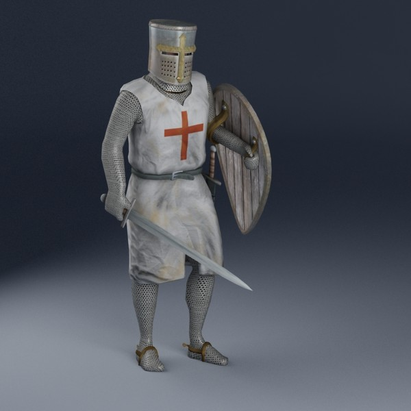 maya rigged knight templar