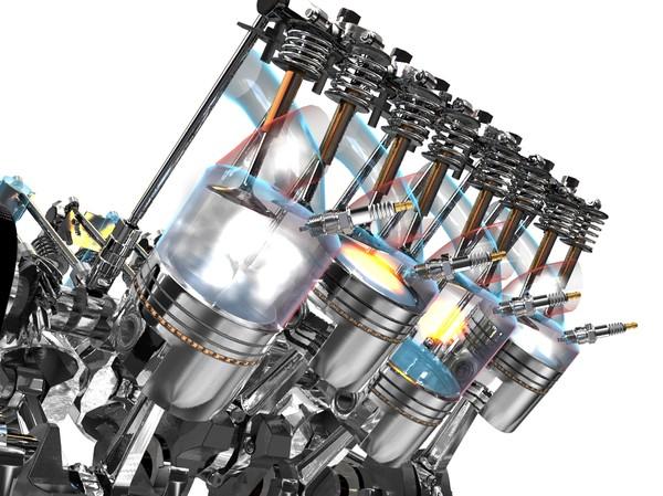 V8 Engine Animation V8 Solenoid Engine Ani...