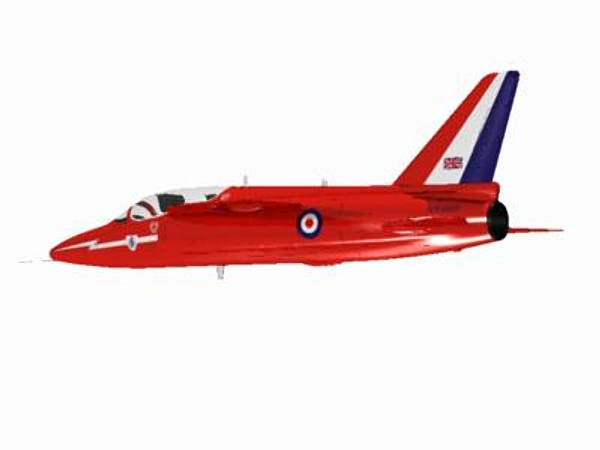 3d hawker siddeley gnat red arrows - Hawker Siddeley Gnat T1 (Red Arrow)... by pbratt