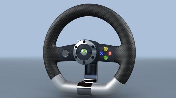 3d model microsoft xbox 360 racing wheel - TKs Microsoft XBox 360 Racing Wheel... by TiKay