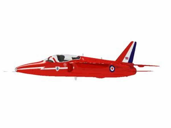 3d hawker siddeley gnat red arrows - Hawker Siddeley Gnat T1 Red Arrow... by pbratt