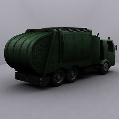 3ds max ready garbage truck - Garbage trucks collection... by GameArt3D