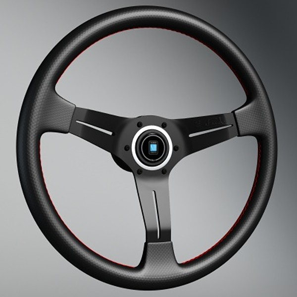 3d model sports steering wheel nardi - Nardi Deep Corn sports steering wheel... by aga22
