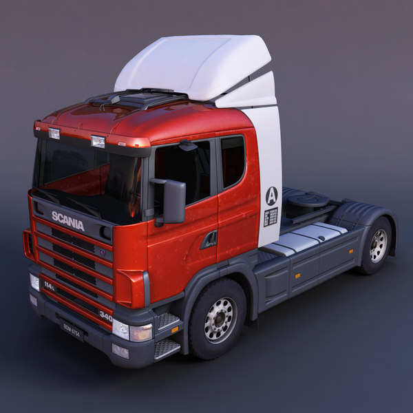 3d scania semi-trailer truck model