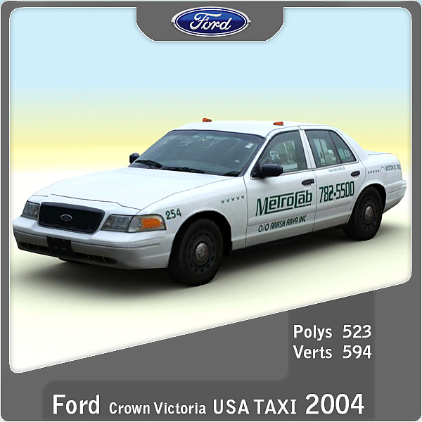 3d model 2004 crown victoria usa