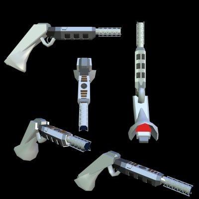 3d low-poly gun model