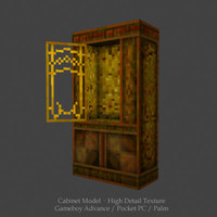 cabinets palm cell phone 3d model