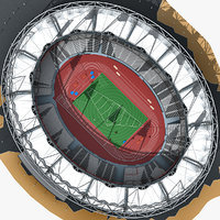 Olympic Stadium With Athletics Equipment