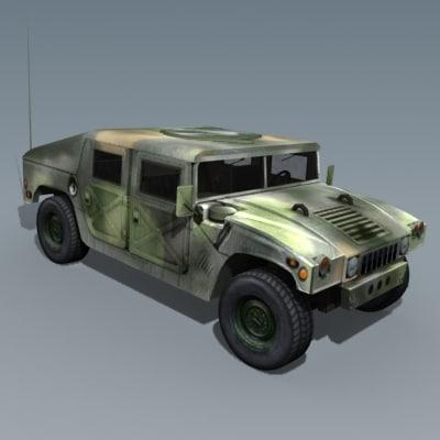 hummer jeep humvee 3d model
