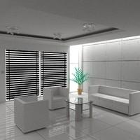 3ds max interior room office