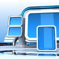Virtual TV Studio Set 1
