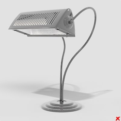 3d model of lamp office