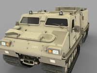 bv309 tracked vehicle 3d model