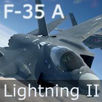 US Air Force F-35 A Lightning II CTOL (Test Flight Scheme) w/ JHMCS Pilot