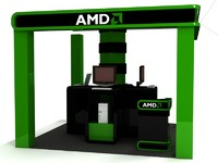 3d computer exhibition booth