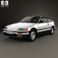 3D honda civic crx