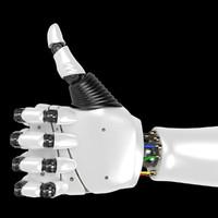 robotic hand rigged 3D model