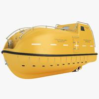 lifeboat life boat 3D model