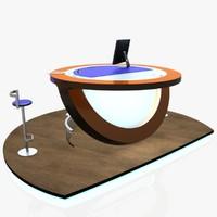 virtual tv studio news 3D