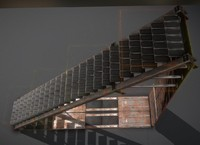 Futuristic Stairs Collection Rusty and Basic