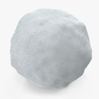 3D snowball cleaning realistic