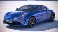 3D alpine a110 2018 model