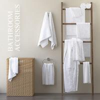 3D bath bathroom towel model