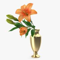 Bouquet with Orange Lilies