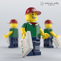 3D lego pizza delivery man