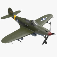 American WWII Fighter Aircraft Bell P-39 Aircobra