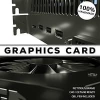 graphics card video 3D model