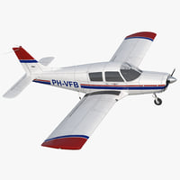 Private Aircraft Piper PA-28 Cherokee 3D Model