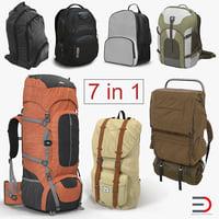 Backpacks 3D Models Collection 6