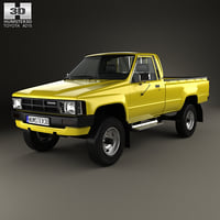 3D toyota hilux dx model