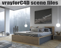 VRayforC4D Scene files - SHOW BEDROOM
