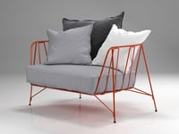 3D canistro armchair