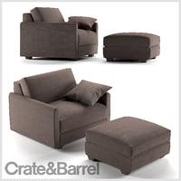 3D chair ottoman cb