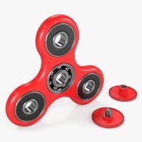 fidget spinner red 3D