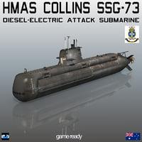 3D australian hmas collins ssg