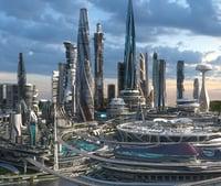 Central business district. Future city. Part 1