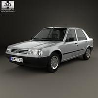 peugeot 309 1985 3D model