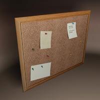 Cork Pushpin Board
