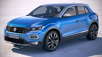 volkswagen t-roc 2018 3D model
