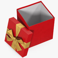 Gift Box Open Red 3