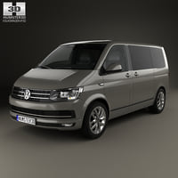 3D model volkswagen transporter t6