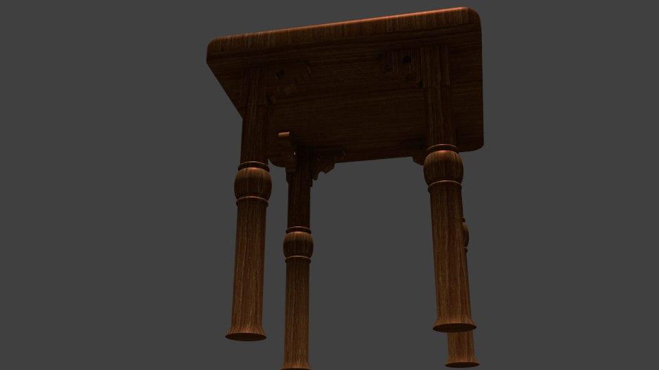 3D model stool tabouret
