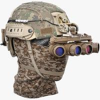 3D model helmet l-3 gpnvg-18 night